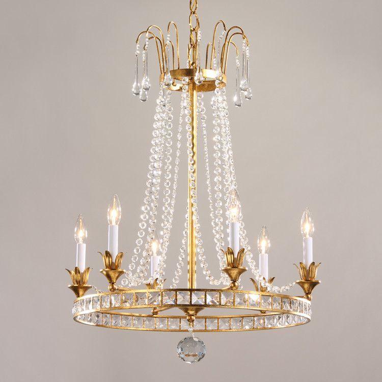 Decorative Crafts Anselmo Crystal Chandelier 7967 Candeeiros