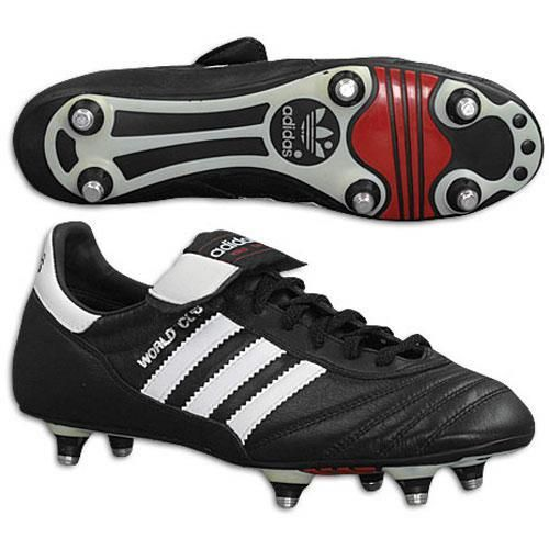 Adidas 011040 World Cup Boot At All Sports Highest Quality Classic Soccer Shoe With Screw In Studs The Choice Of Professional Players For More Than 20 Years