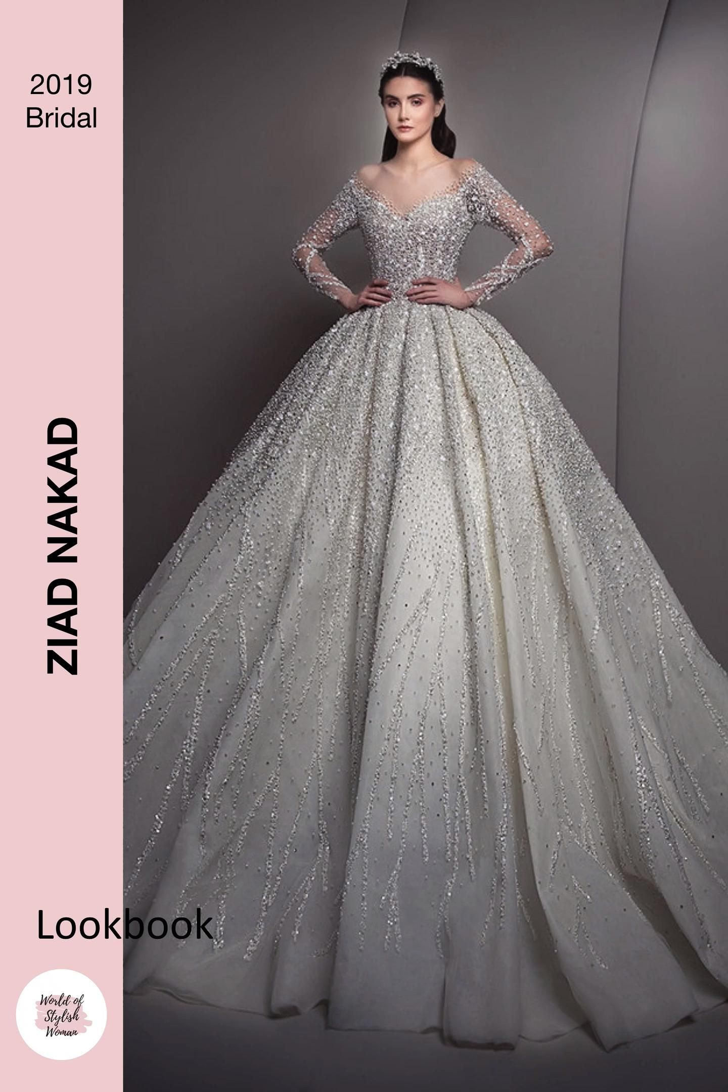 Ziad Nakad Lookbook 2019 Bridal Collection Video Bridal Outfits Empire Wedding Dress Wedding Outfit