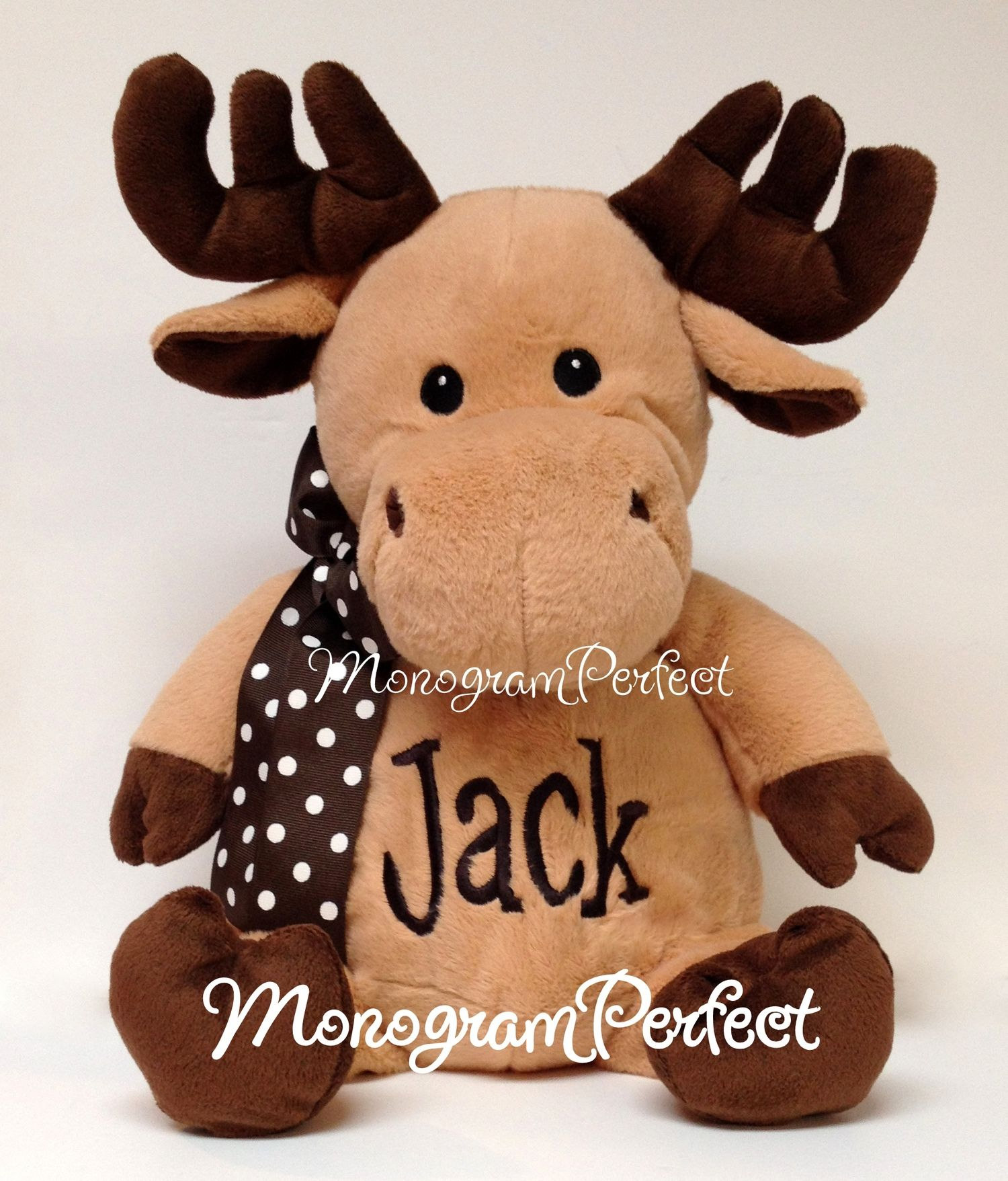 "Personalized 16"" Moose Stuffed Animal — MonogramPerfect"