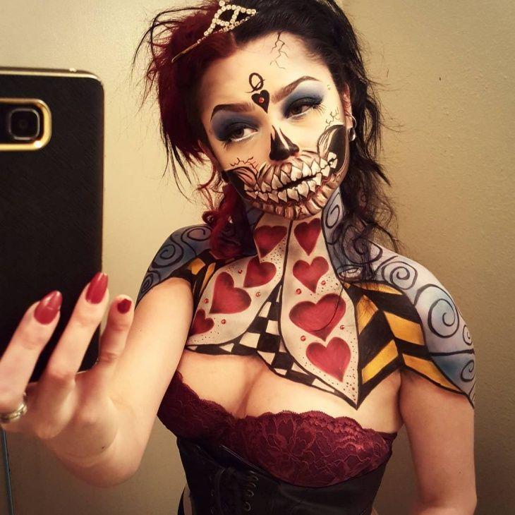 alice in wonderland red queen makeup queen of hearts