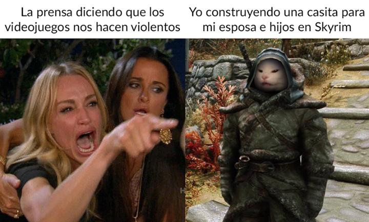 Meme Videojuego Por Steammexico Mx Jajaja Stos Mens V Gamer Gamers Humor Memes Espanol 2019 Chistosos Sigue Nuestras Skyrim Memes Memes Funny Memes