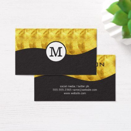 Monogrammed gold luxe monogram business card monogrammed monogrammed gold luxe monogram business card colourmoves