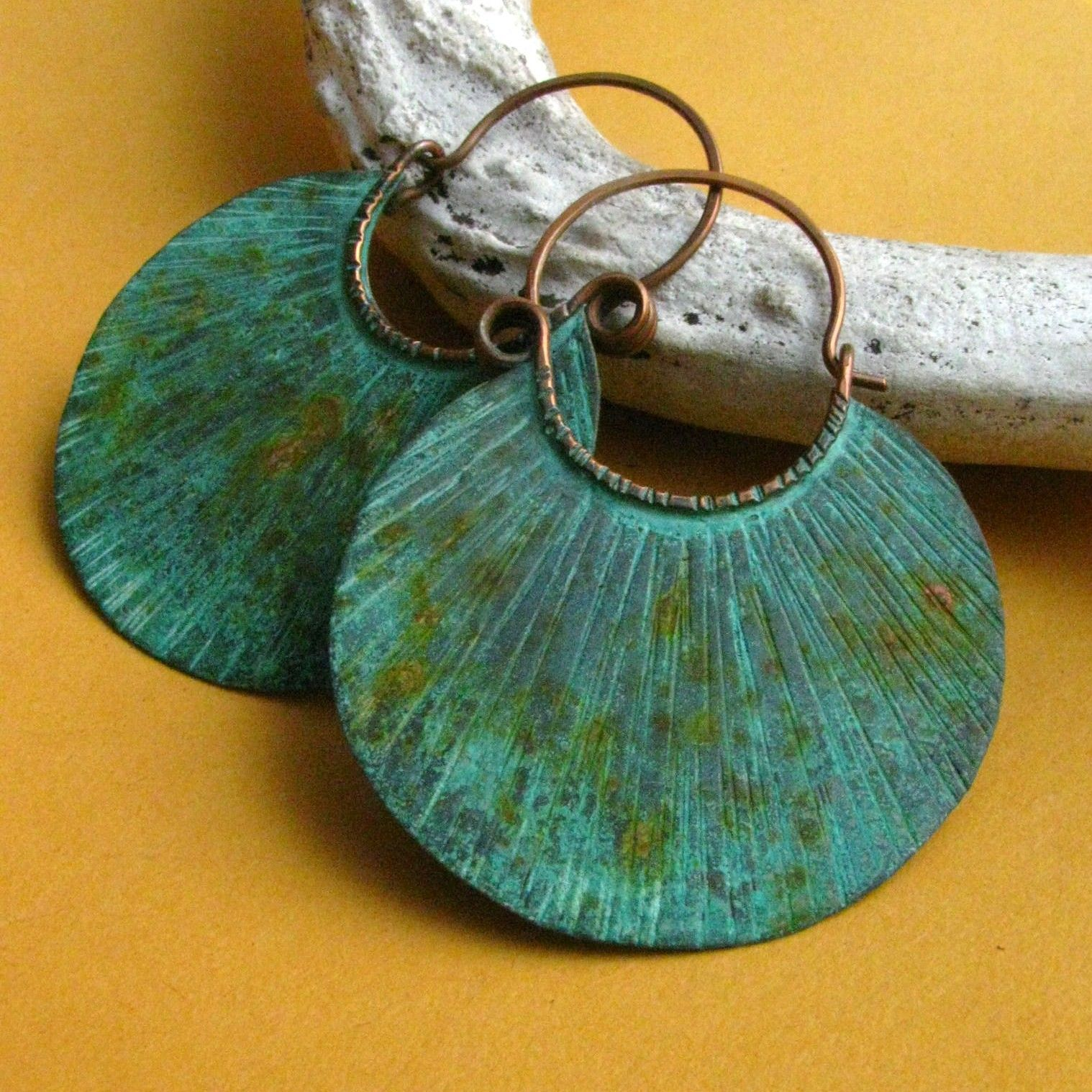 Verdigris Tribal Copper Blade Earrings – Unearthed