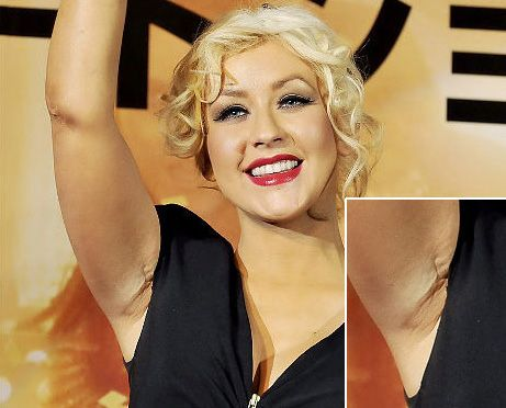 26661a6c8 Christina Aguilera breast implant scar