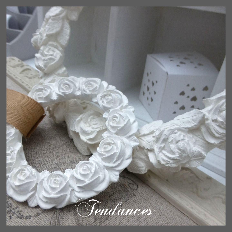 Petit grande couronnes de fleurs en pl tre et c ramique for Decoration par platre