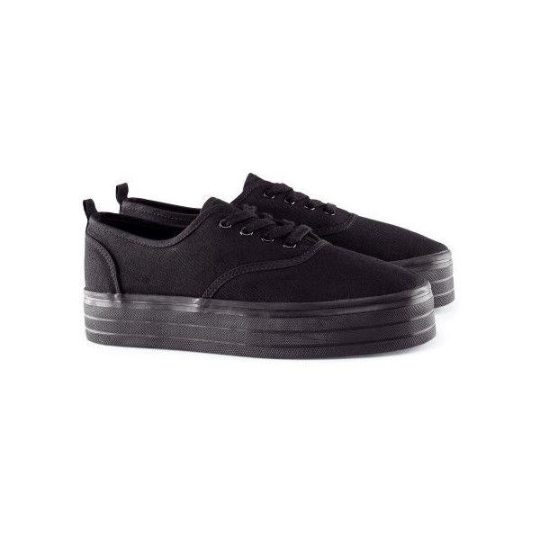 H\u0026M Platform sneakers ($9.09) ❤ liked