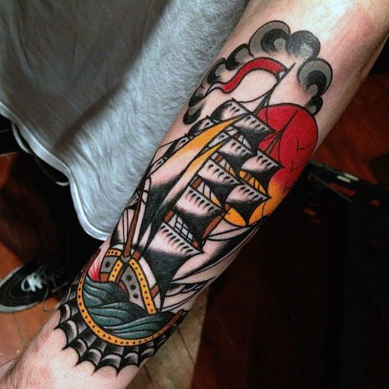 Top 103 American Traditional Tattoos 2020 Inspiration Guide Traditional Tattoo Traditional Tattoo Man Traditional Tattoo Forearm