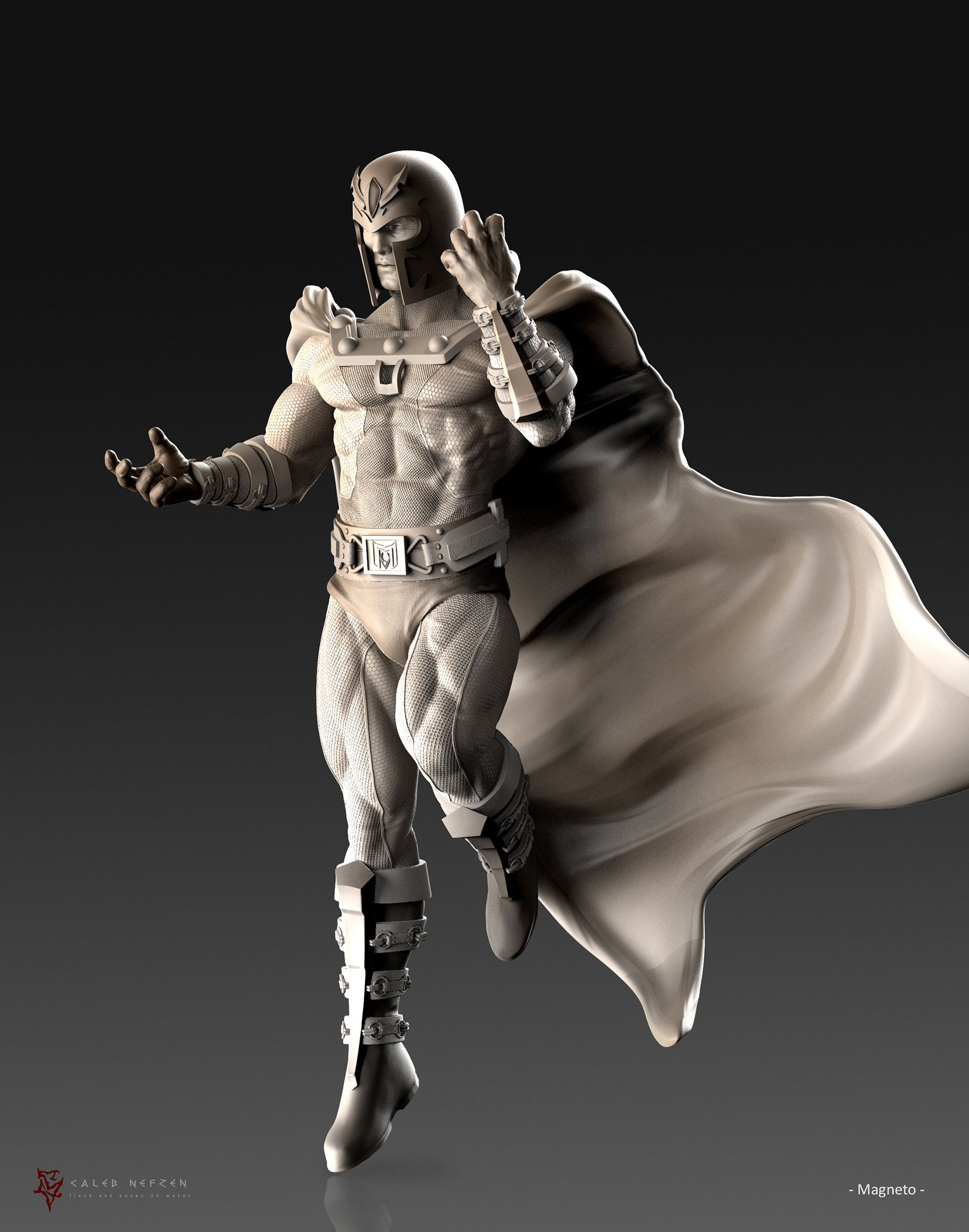 3D Model Magneto by Caleb Nefzen | Zbrush Tuts | Digital Sculpting ...