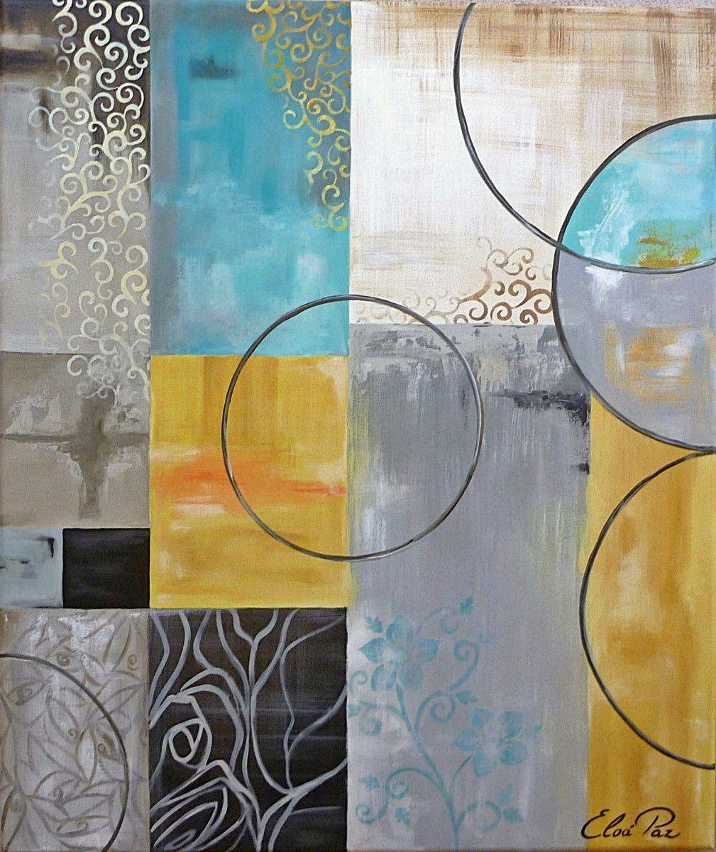 Quadro Abstrato Moderno Azul Quadros Abstratos Acrilico E Abstrato -> Quadro Abstrato Sala De Jantar