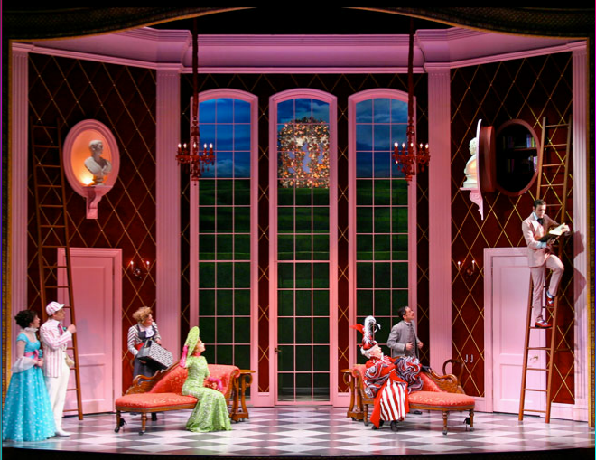 The Importance of Being Earnest. Scenic design by Alexander Dodge.