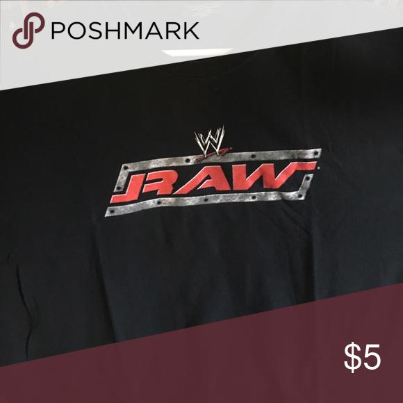 Wwe Raw Logo Men S 2xl Shirt Wwe Shirts Shirts Logo Shirts