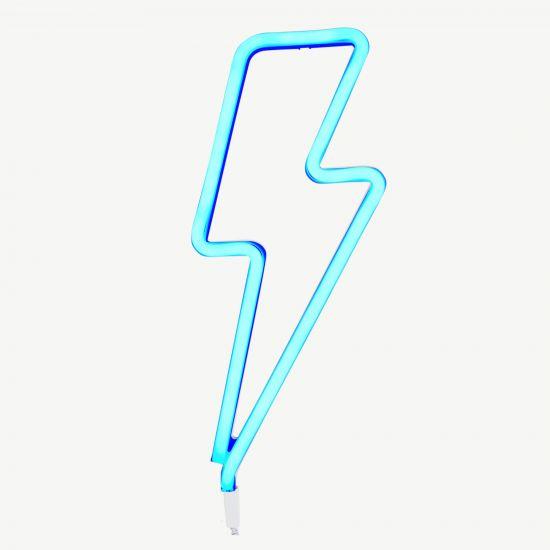Blue Lightning Bolt Neon Style Light Littlehipstar Com Blue Lightning Lightning Bolt Neon