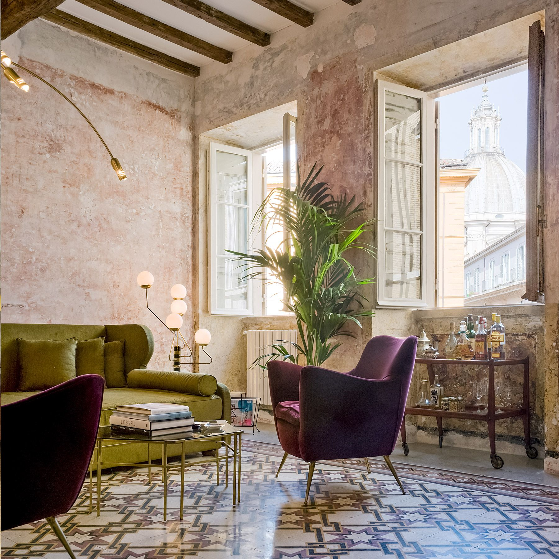 g rough in rome italy interior is filled with talian designers