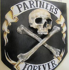 Custom made Pirate Shield from: Catacomb Emporium  http://bugwriter.wix.com/catacombemporium