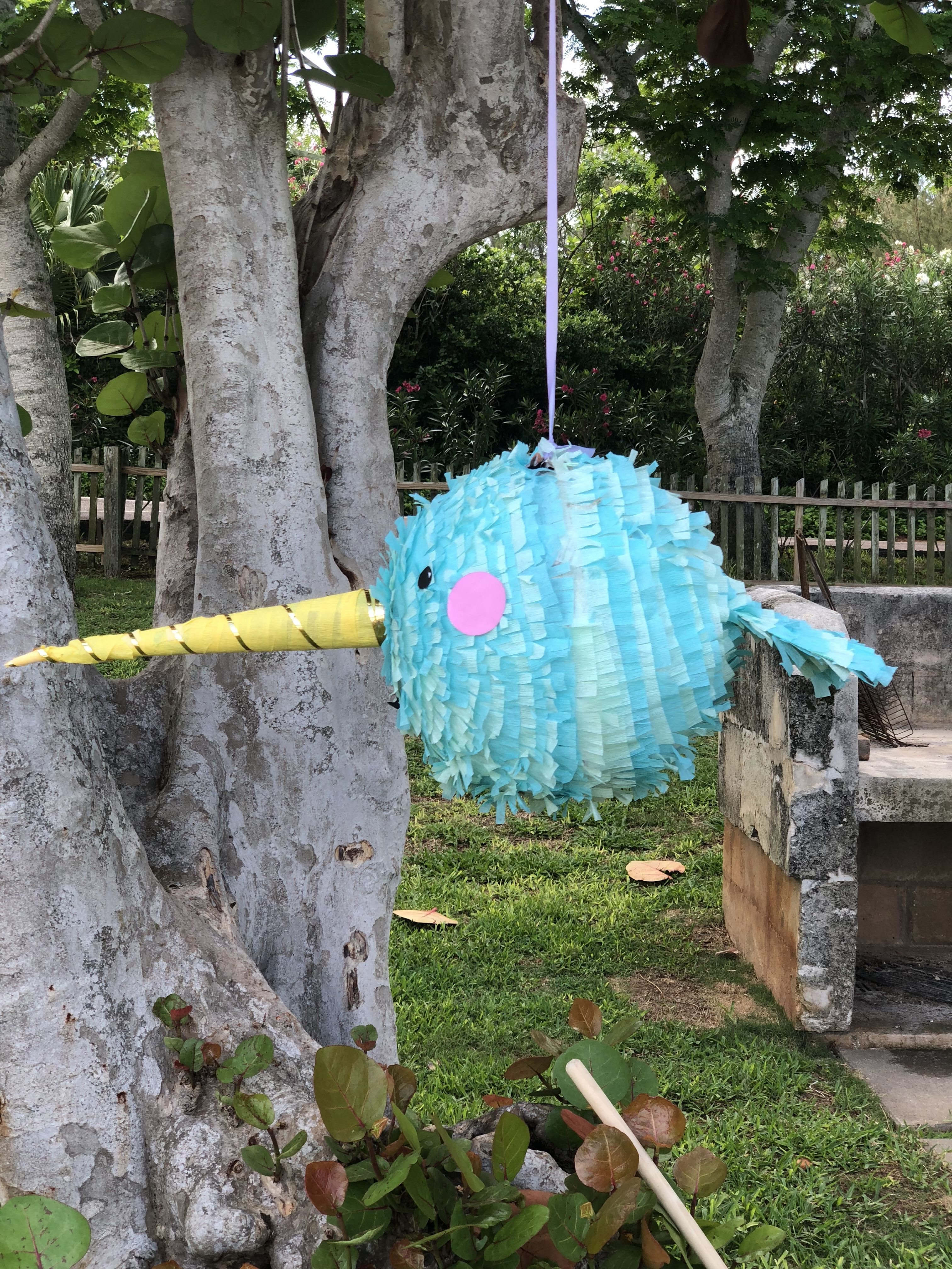 4e315f722 Home made Narwhal piñata   Narwhal party in 2019   Birthday ...