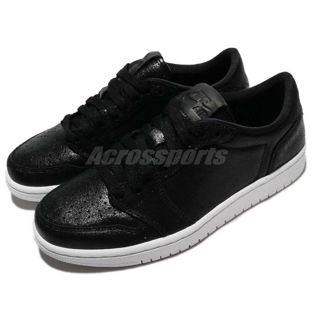 0c41d00240fb07 Nike Wmns Air Jordan 1 Retro Low NS No Swoosh Black Women Shoes AJ1 AH7232 -011