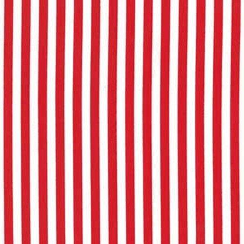 Michael Miller Clown Stripe Holiday Red & White by StitchinStash ...
