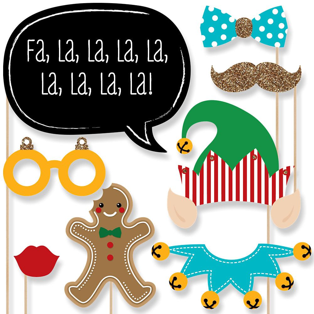 elf christmas party photo booth props kit 10001000