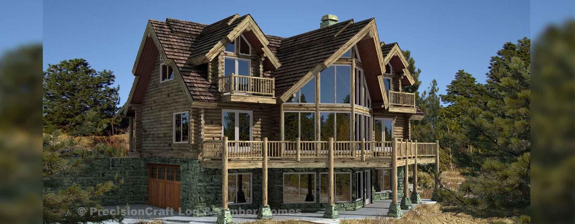 3 Bdrm With Loft Basement W Rec Room Log Cabin Homes Cabin Homes Cabin