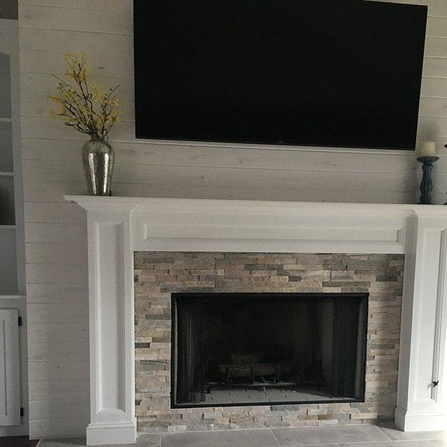 1005 Fireplace Mantel Surround Paint Grade Etsy Fireplace
