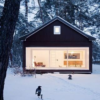 Warm Ski Cabin #cabin #snow #escape #explore #warm #woods #freedom #offgrid #modern #happiness
