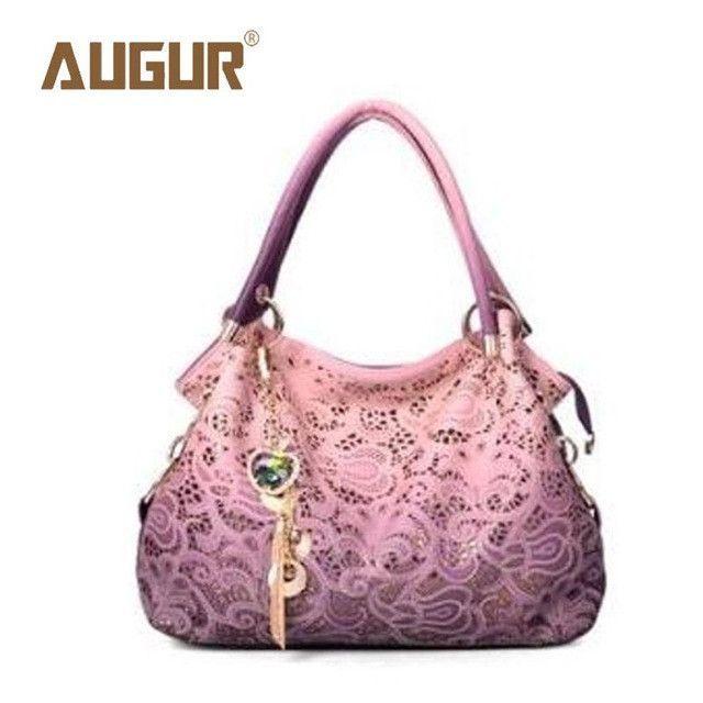 9c481934e087 AUGUR Brand New Fashion Hollow Out Retro Carved Handbags