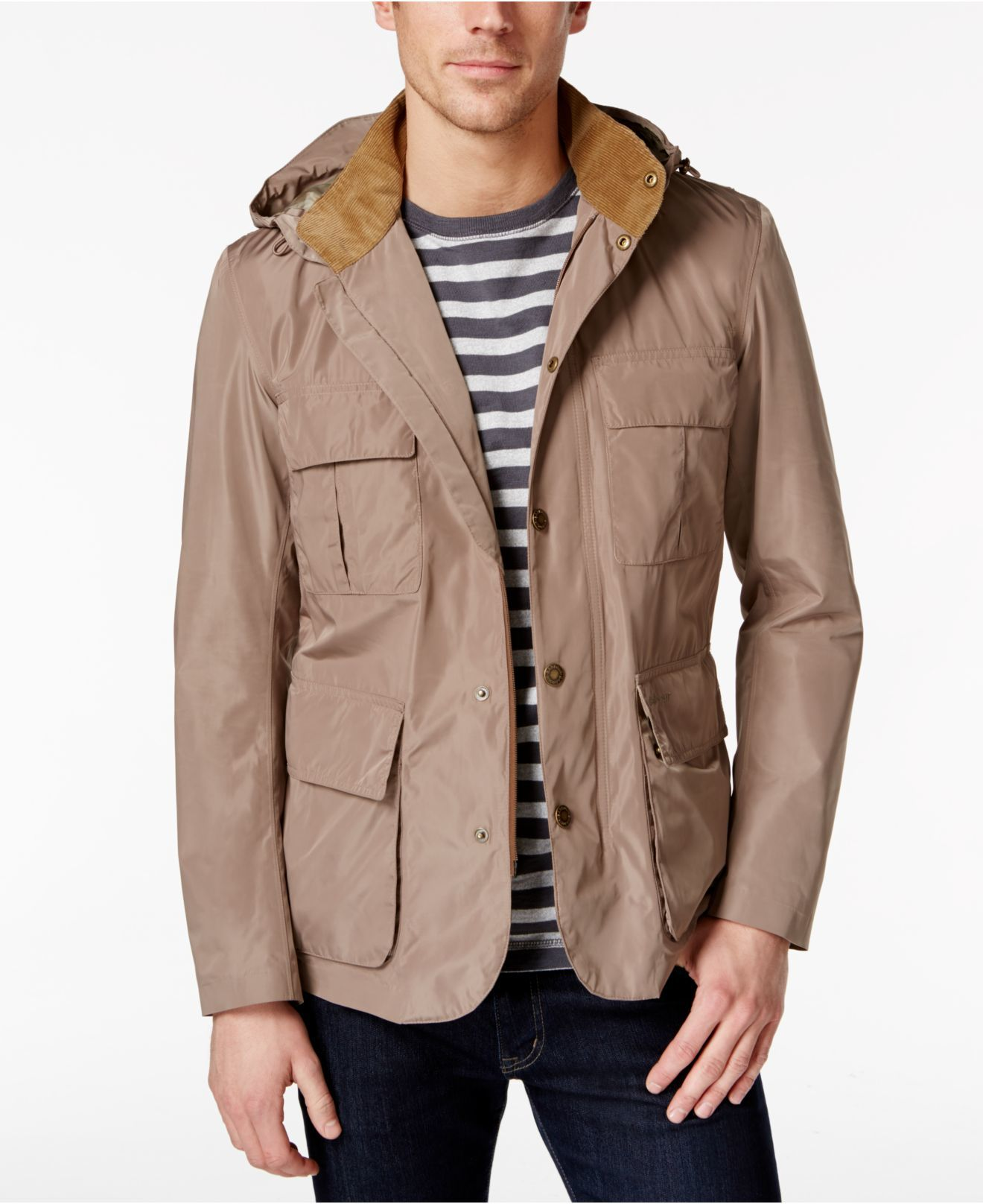 ba836741c024 Barbour Men's Thurso Detachable-hood Jacket in Brown for Men (Military  Stone) - Save 67%   Lyst