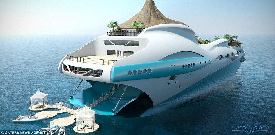 Tropical Island Paradise Superyacht Design By Yacht Island Design Nice Look
