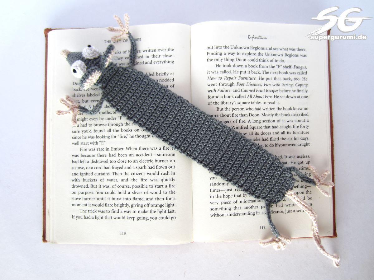 Amigurumi Ratten Lesezeichen häkeln - \
