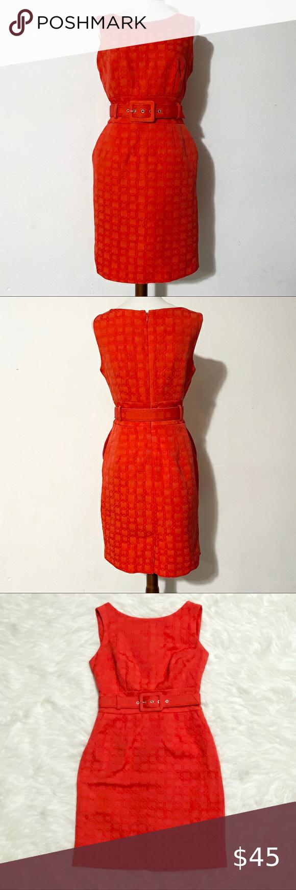 BANANA REPUBLIC Orange Belted Dress BANANA REPUBLI
