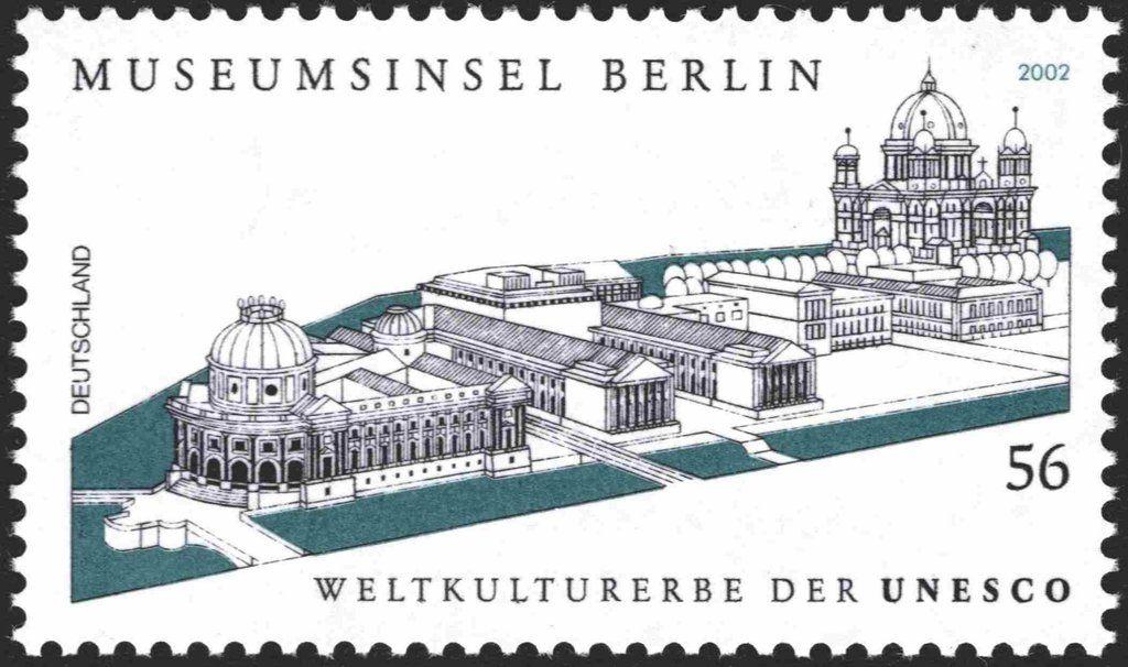 Briefmarke Museum Island Berlin World Heritage 1999 Deutschland Brd Unesco Welterbe Welterbe Museumsinsel Berlin Museum
