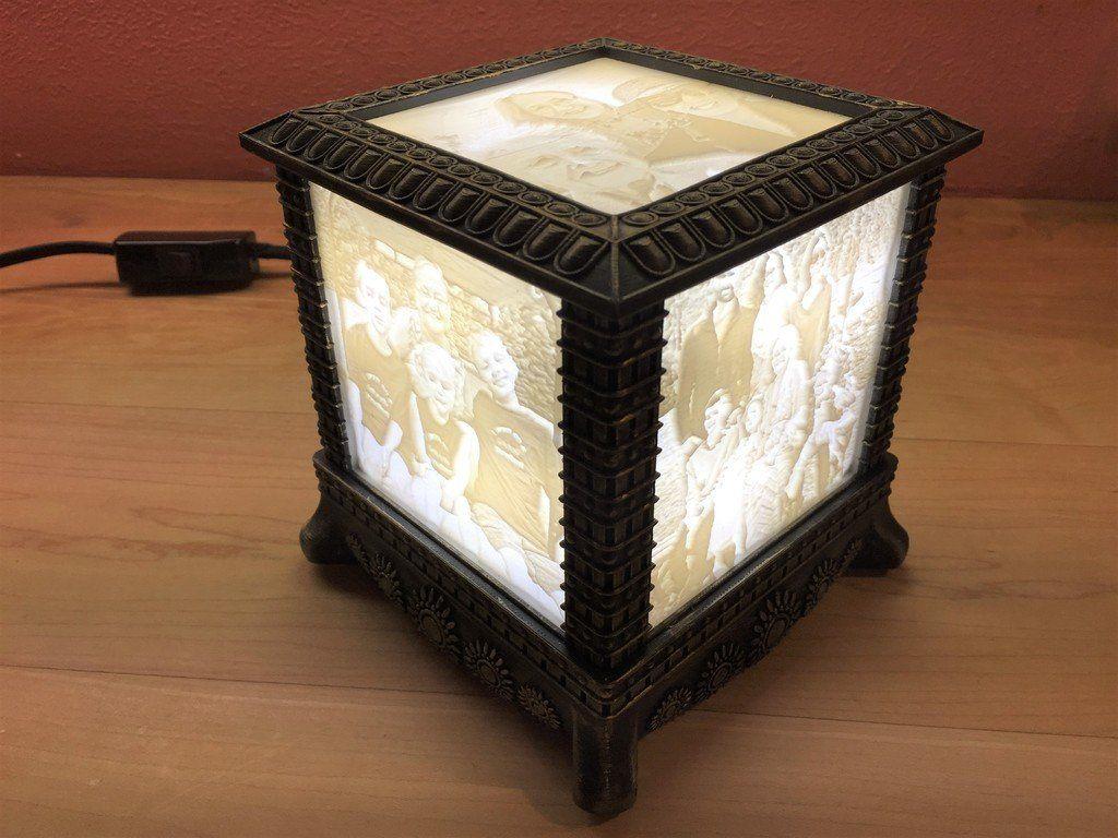 Gothic Lithophane Light By 3dprintingworld Lamp Diy Lamp Light