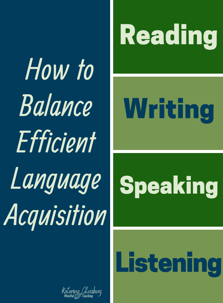 The Most Effective Engaging Language Learning Contains Balance Between All Four Doma Teaching Reading Comprehension Learning Languages Motivational Activities