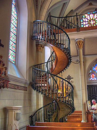 Best Strange No Nails Spiral Staircase Loretto Chapel In 400 x 300