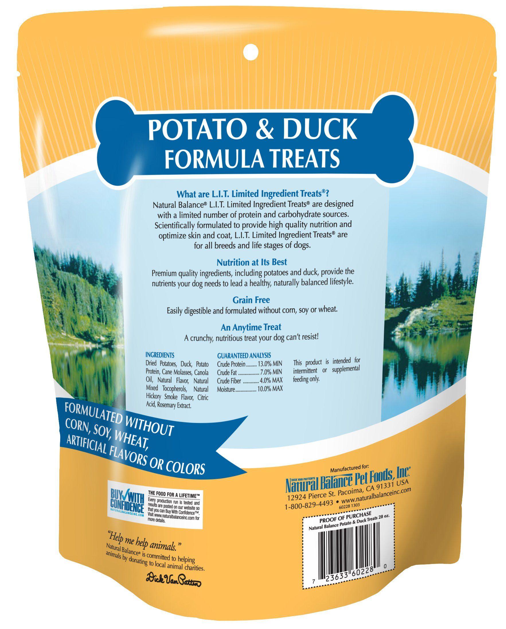 Natural balance lit limited ingredient dog treats grain