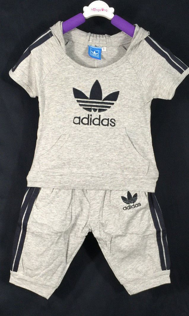 f9685ba3134 New Adidas Infants Baby Boys Tee Short Set Kid T-Shirts Set Outfit Size  1T-6T