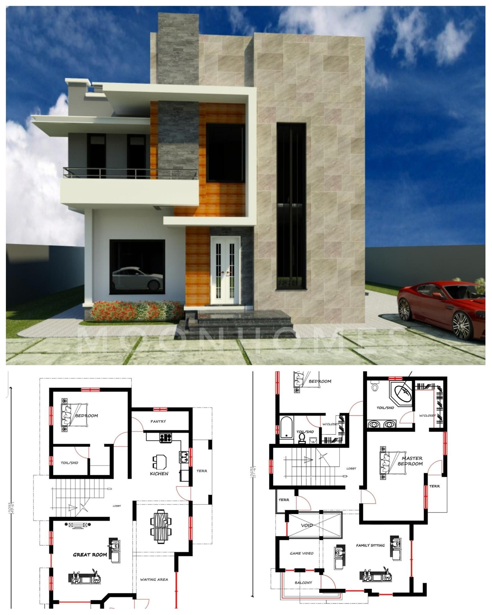 3 Bedroom Duplex House Plan Modern Home Design House Floor Plans Tv Shows Floor Plan Duplex House Plans Duplex House Design Beautiful House Plans