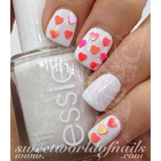 3d Mini Hot Pink Hearts Nail Art Nail Decoration Pink Nails