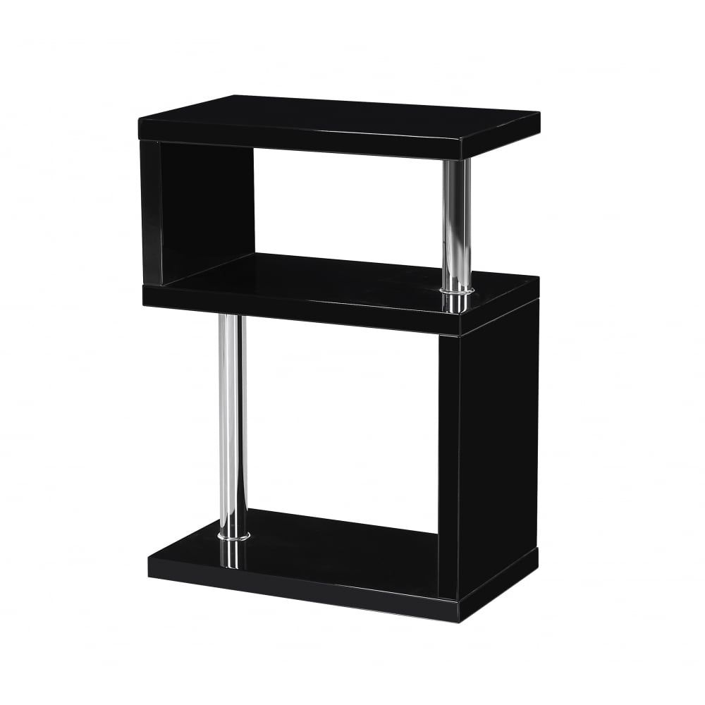Modern black side table - Mfs Furniture Miami Black High Gloss Side Table Stunning Side Table In A Modern Look