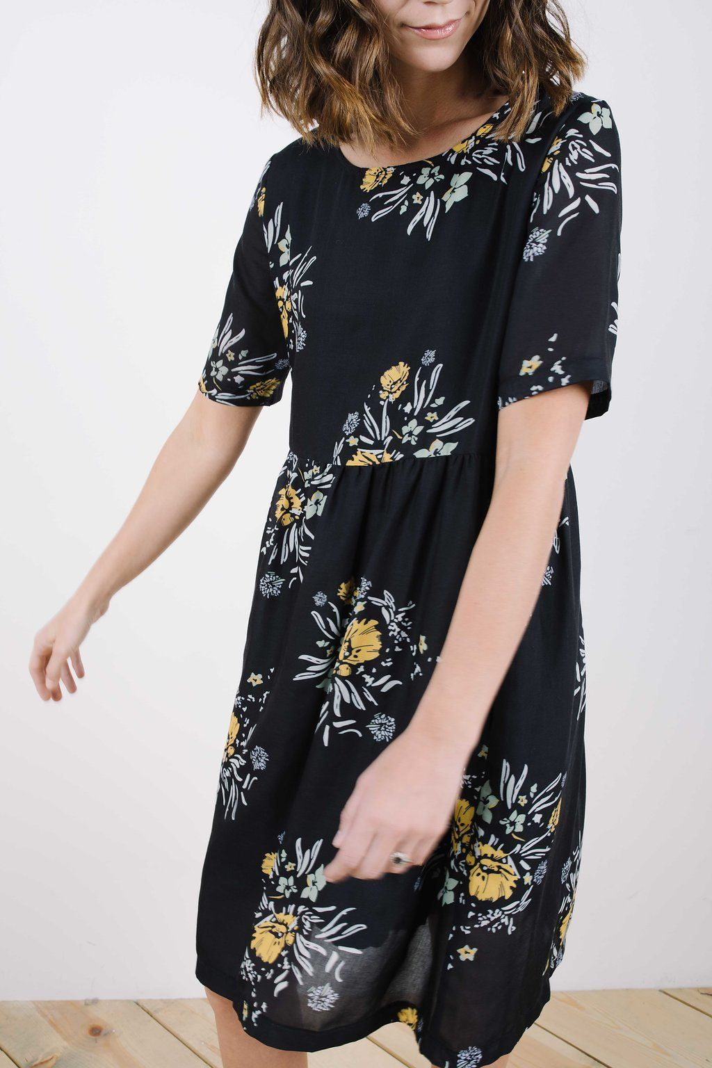 Piper Scoot The Swenson Floral Dress Dresses Nursing Friendly Dress Darling Dress [ 1536 x 1024 Pixel ]