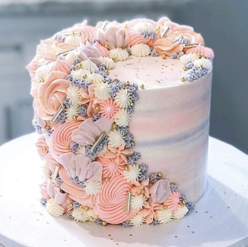 Pin By Vivien Nemes On Pink Pretty Birthday Cakes Girly Birthday Cakes Cute Birthday Cakes