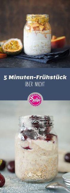 5 Minuten-Frühstück über Nacht / 3 Ideen / Over Night Oatmeal #dessertideeën