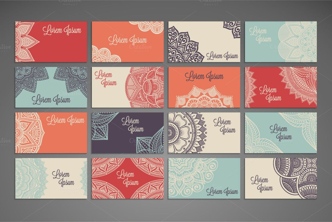 32 Business cards in ethnic style by ViSnezh on Creative Market