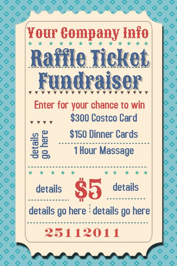 Raffle Flyer Template Click To Customize  Event Flyer Templates