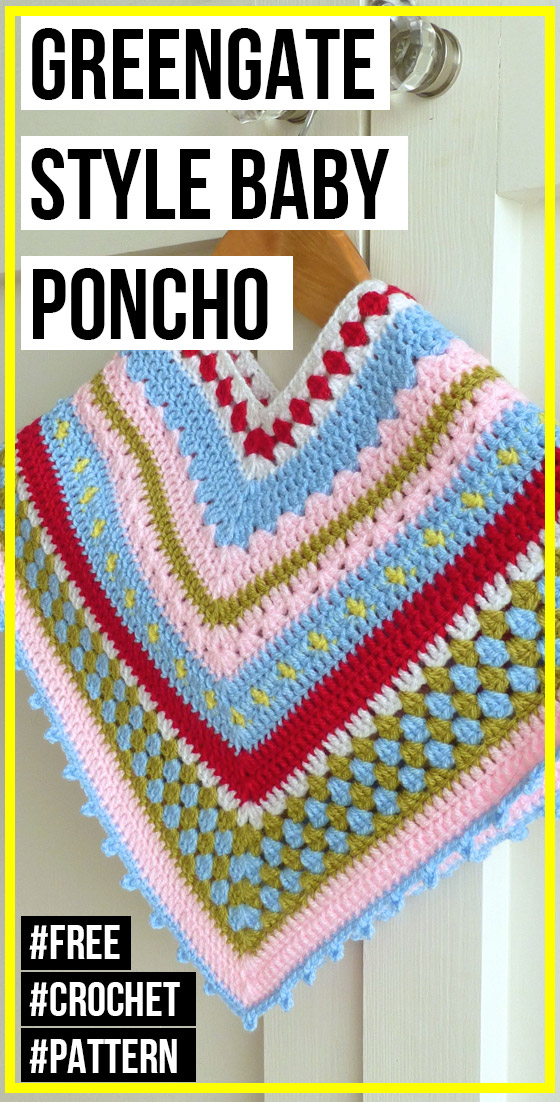 crochet Greengate Style Baby & Toddler Girls Crochet Poncho free pattern