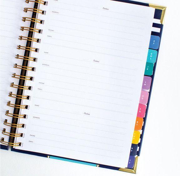 a simple pretty address book at emilyley com organiztastic