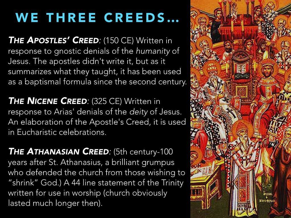 The Athanasian Creed Whoever Wishes To Be Saved Needs
