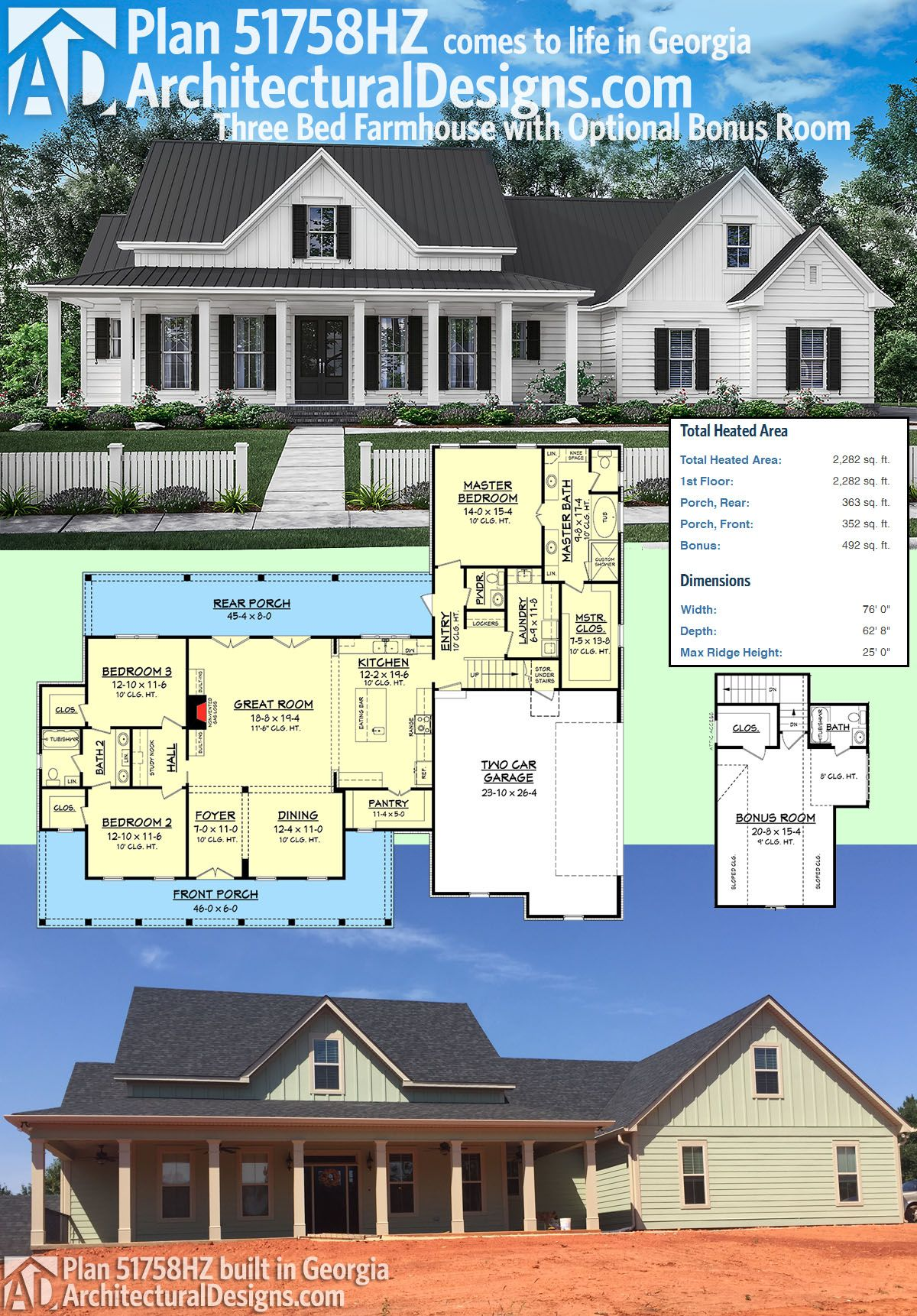 Our Client Built House Plan 51758HZ In Georgia On A Walkout Basement And With Slight Modifications To The GarageReady When You Are