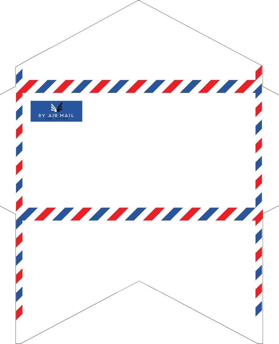 OldFashioned Correspondence Airmail Envelopes  Stationery
